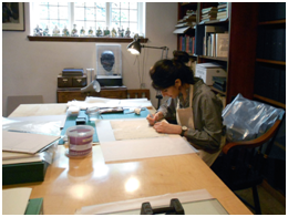 Puneeta at work in the Old Library