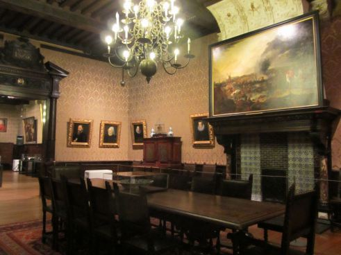 The living quarters.  Above the large painting you can just see the Golden Compasses.  Photograph by Catherine Sutherland