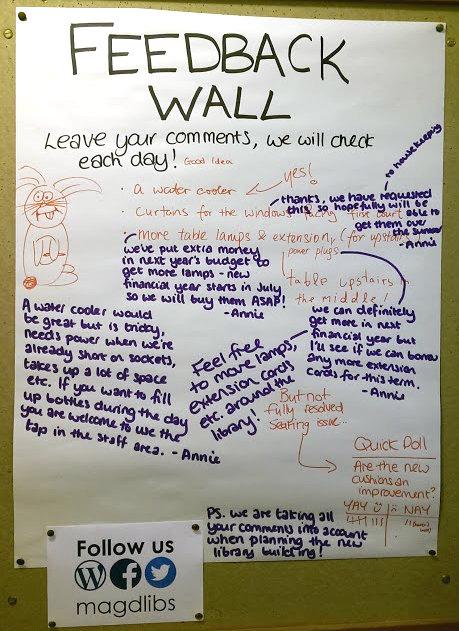 Feedback wall 13th May 2015