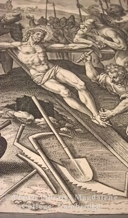 Fig 6 - Detail of a spade from one of the prints